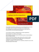 A Glimpse Into Energy Future