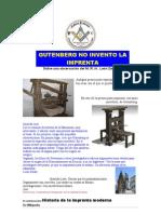 00898 Gutenberg No Invento La Imprenta