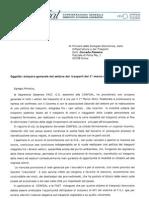 Lettera richiesta incontro sciopero 1° marzo a Corrado Passera