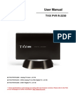 Tvix Pvr r2230 English