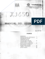 Yamaha XJ650 Owners Manual SPA by Mosue