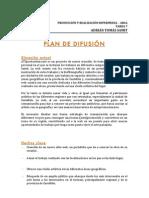 Plan de difusión del proyecto
