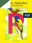 Birds Alphabet - Coloring Book