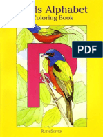 Birds Alphabet - Coloring Book