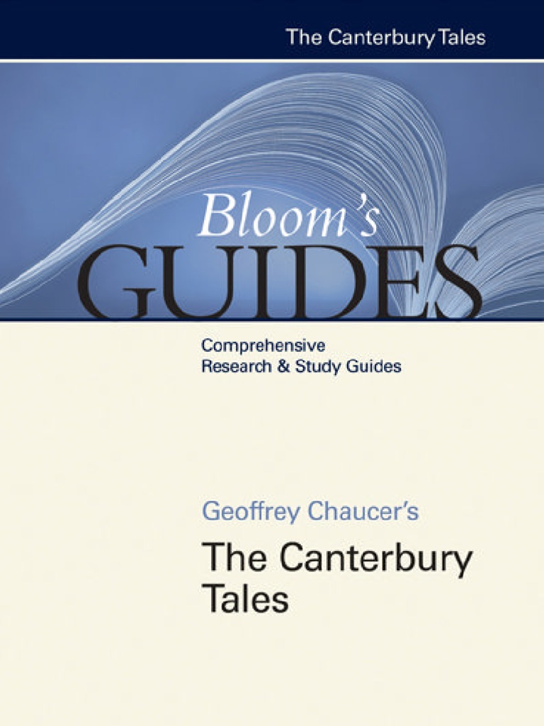 Geoffrey Chaucer S The Canterbury Tales Harold Bloom border=