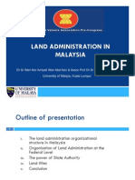 Land Administration in Malaysia