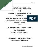 SAMPLE Dissertation Proposal by Adekunle Ilori A