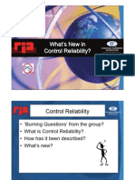 What's New in Control Reliability