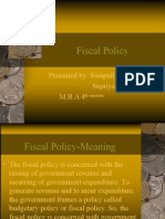 Supriya Fiscal Policy