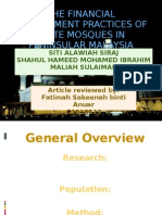 The Financial Management Practices of State Mosques In