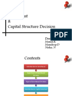 Investment and Capital Structure.