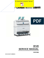RICOH Aficio-240W Service Manual Pages