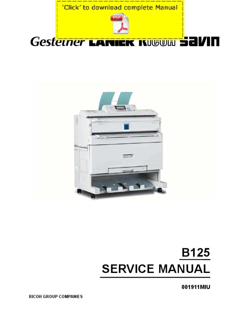 ricoh aficio 240w service manual pages photocopier image scanner rh es scribd com ricoh aficio 240w user guide ricoh aficio 240w maintenance manual