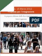 Siena, 15 Marzo 2012 - Proposte - Berti - Valzania