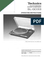 Technics SL-QD33 Turntable
