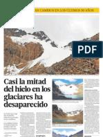 Casi La Mitad de Hielo en Los Glaciares Ha Desaparecido