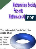 Mathematics Quiz for Msc-II Students) Second Round