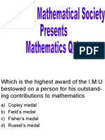 Mathematics Quiz for Msc- i and II Students) Third Round
