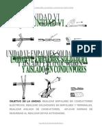 Unidad Vi_empalmes Soldadura y Aislado en Conduct Ores