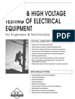 Testing of High Voltage Equipment