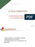 Base PPT on Cloud Computing