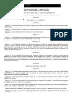 Constitución de la República - 1967 URUGUAY