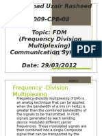 Frequency -Division Multiplexing