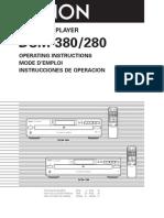 Denon DCM-380 User Manual