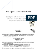 Seis Sigma Para Industrialesb