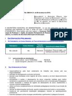 1) Edital Sma 21 - Prof i - Ingles