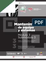 Guía formativa. MANTENIMIENTO DE EQUIPO Y SISTEMAS 33. CECyTEH, Gobierno Hidalgo. 2012