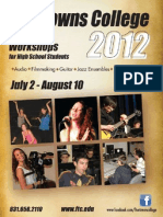 Summer 2012 High School Workshops
