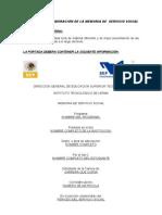 GUIA PARA LA ELABORACIÓN DE LA MEMORIA DE S.S. (EXTERNO)
