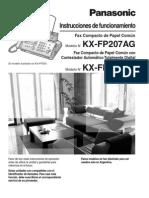 Fax Panasonic FP207AG OM Spanish