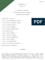 Consulta Online - Ordinanza n. 17:99