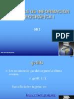 SISTEMAS DE INFORMACIÓN GEOGRÁFICA I  gvsig
