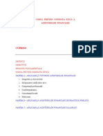 Codul Privind Conduita Etica a Auditorilor Financiari