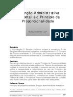 A sanção administrativa ambiental e o principio da proporcionalidade