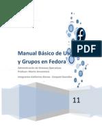 Manual Básico de usuarios y grupos en Fedora