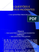 Aula dAS QUESTÕES E PROCESSOS INCIDENTES