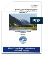 Assessment of Future Changes in Temperature Related Extreme Indices Over Pakistan Using Regional Climate Model PRECIS(GCISC-RR-05)