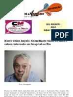 Morre Chico Anysio; Comediante Tinha 80 Anos e Estava Internado Em Hospital No Rio