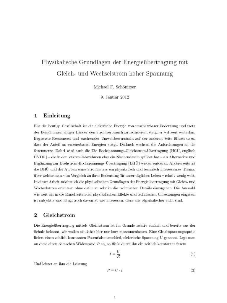 Ziemlich Wechselstrom Nullleiter Ideen - Die Besten Elektrischen ...