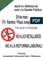 Convocatoria manifestacio 28 març Gavà