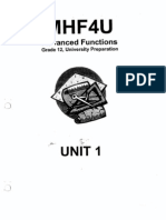MHF4U Advanced Functions Preparation