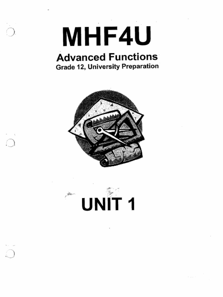 MHF4U Advanced Functions Preparation