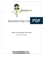 The Digital Girl Business Plan Outline 2009 English