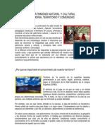 7. El Patrimonio Natural y Cultural. Memoria, Patrimonio y Comunidad