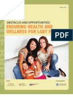 Obstacles and Opportunities Ensuring Health and Wellness for Lgbt Families