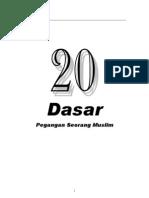 20 Dasar Islam [Ringkas]